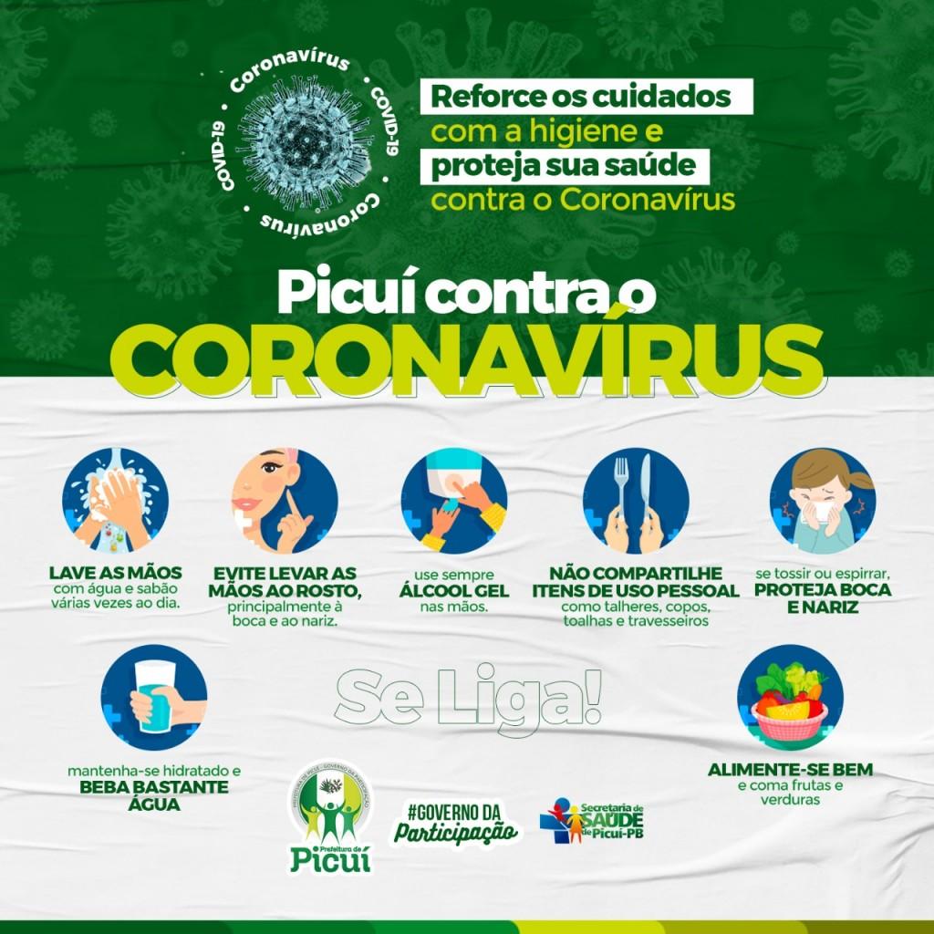 Decreto Estabelece Medidas de Prevenção ao Coronavírus (COVID-19) no Município de Picuí
