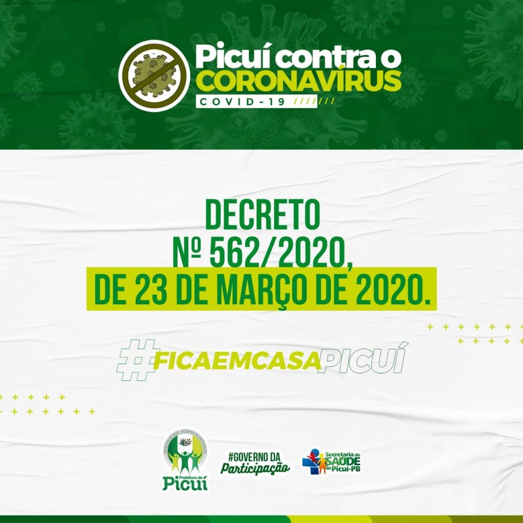 Novas Medidas Preventivas ao Coronavírus são Estabelecidas no Município de Picuí