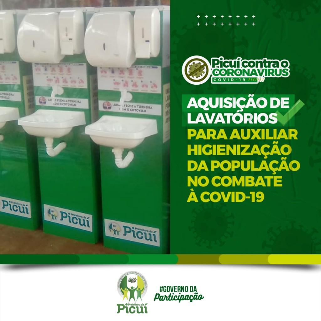 Prefeitura do Município Realiza Aquisição de Lavatórios para Auxiliar na Higienização das Mãos da População Picuiense