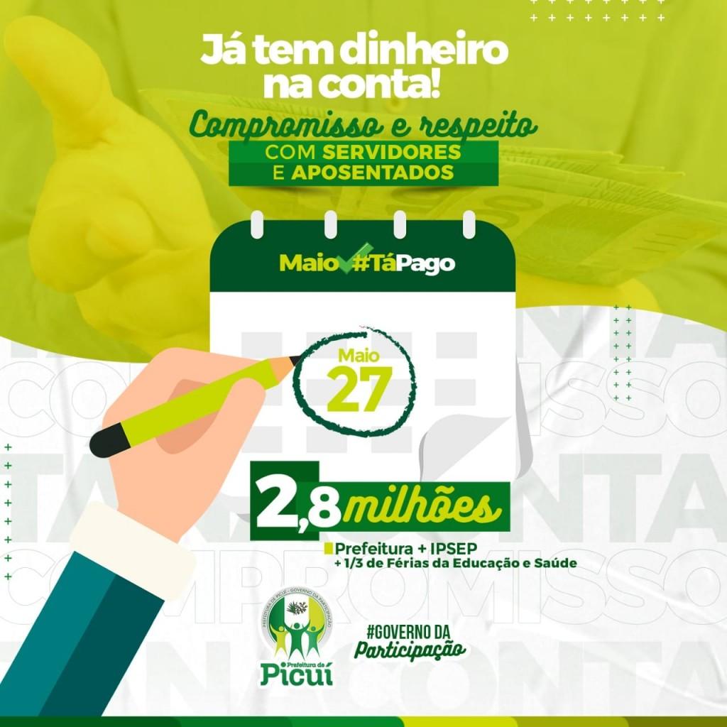 Dinheiro na Conta: Prefeitura de Picuí Realiza Pagamento dos Servidores Públicos e IPSEP