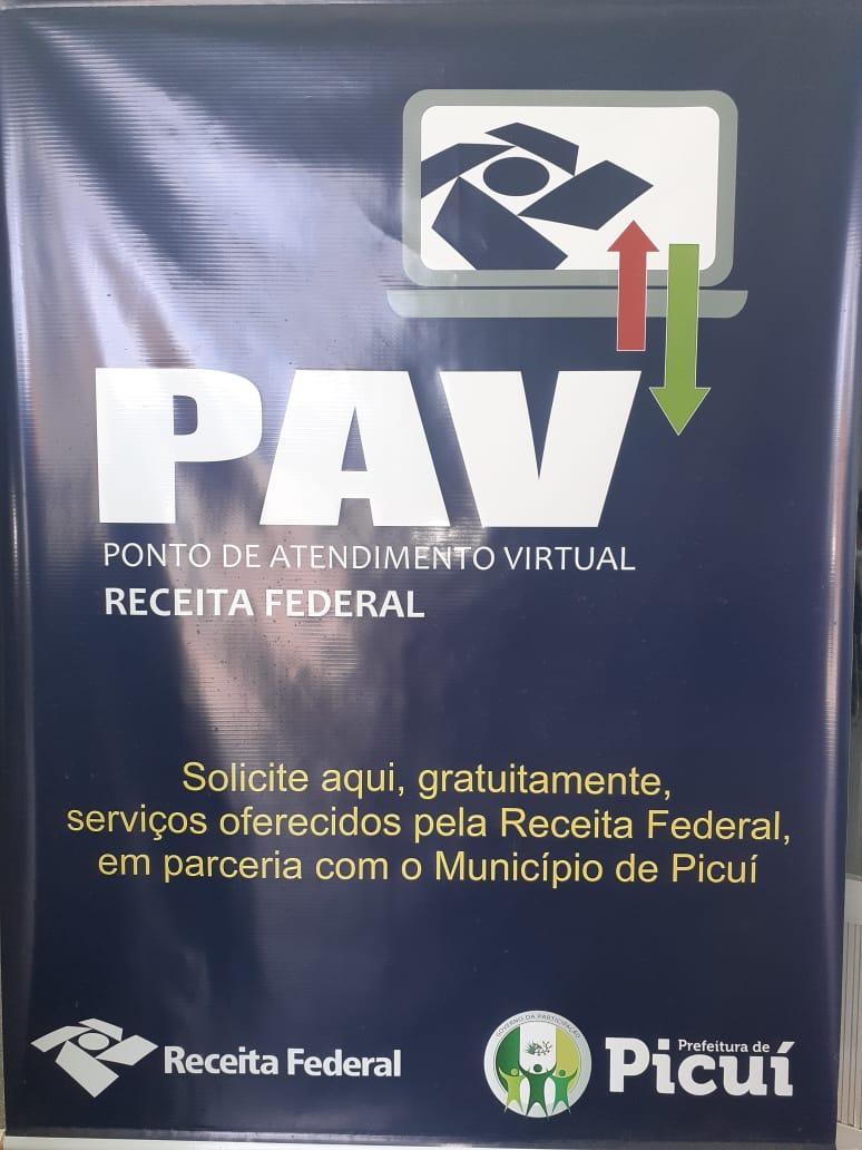 Receita Federal, em parceria com a Prefeitura de Picuí, instala Ponto de Atendimento Virtual no Município