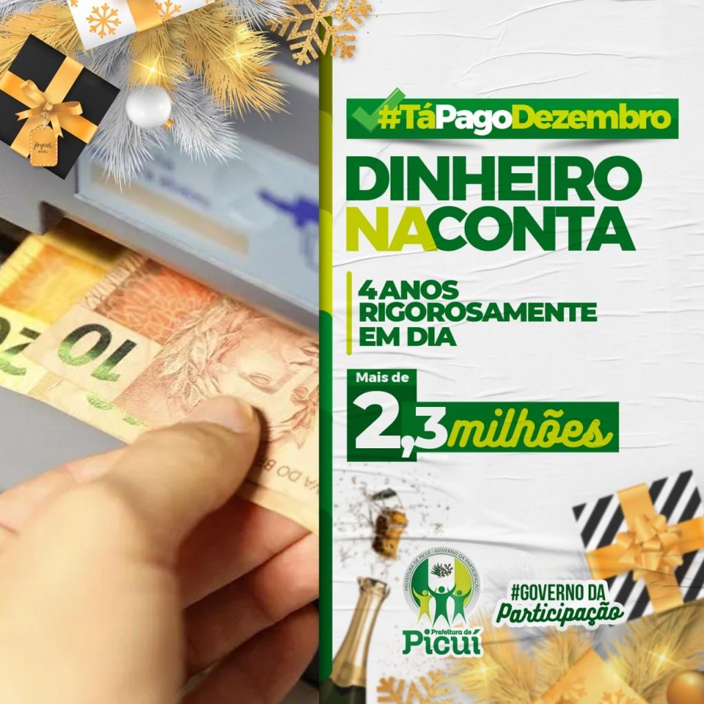 Dinheiro nas Contas: Prefeitura de Picuí Realiza Pagamento dos Servidores Públicos Municipais
