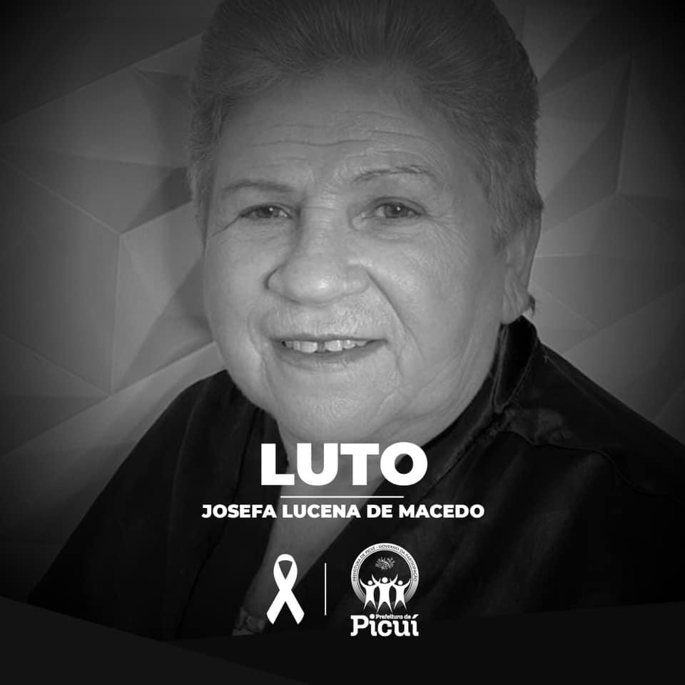 Luto Oficial é Decretado no Município pelo Falecimento da Servidora Pública Josefa Lucena de Macedo