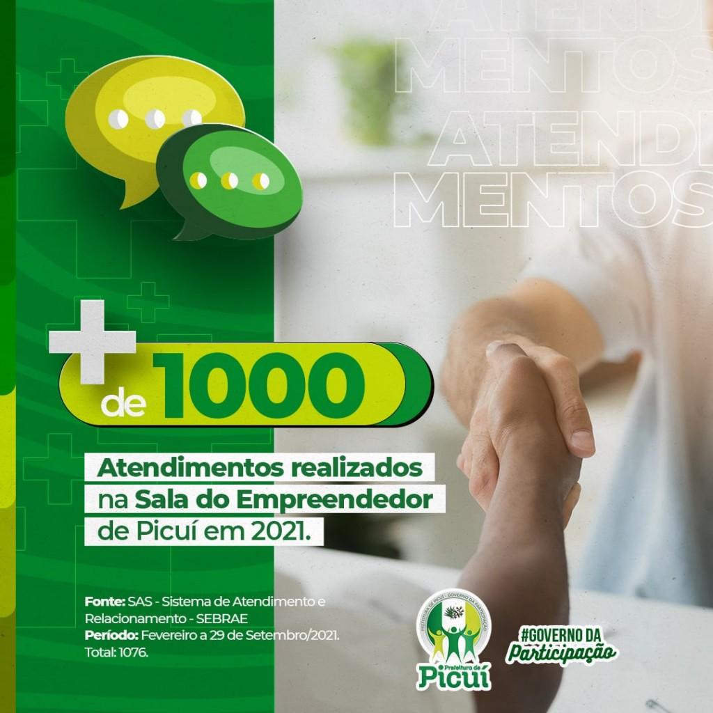 Mais de Mil Atendimentos foram Realizados na Sala do Empreendedor de Picuí em 2021