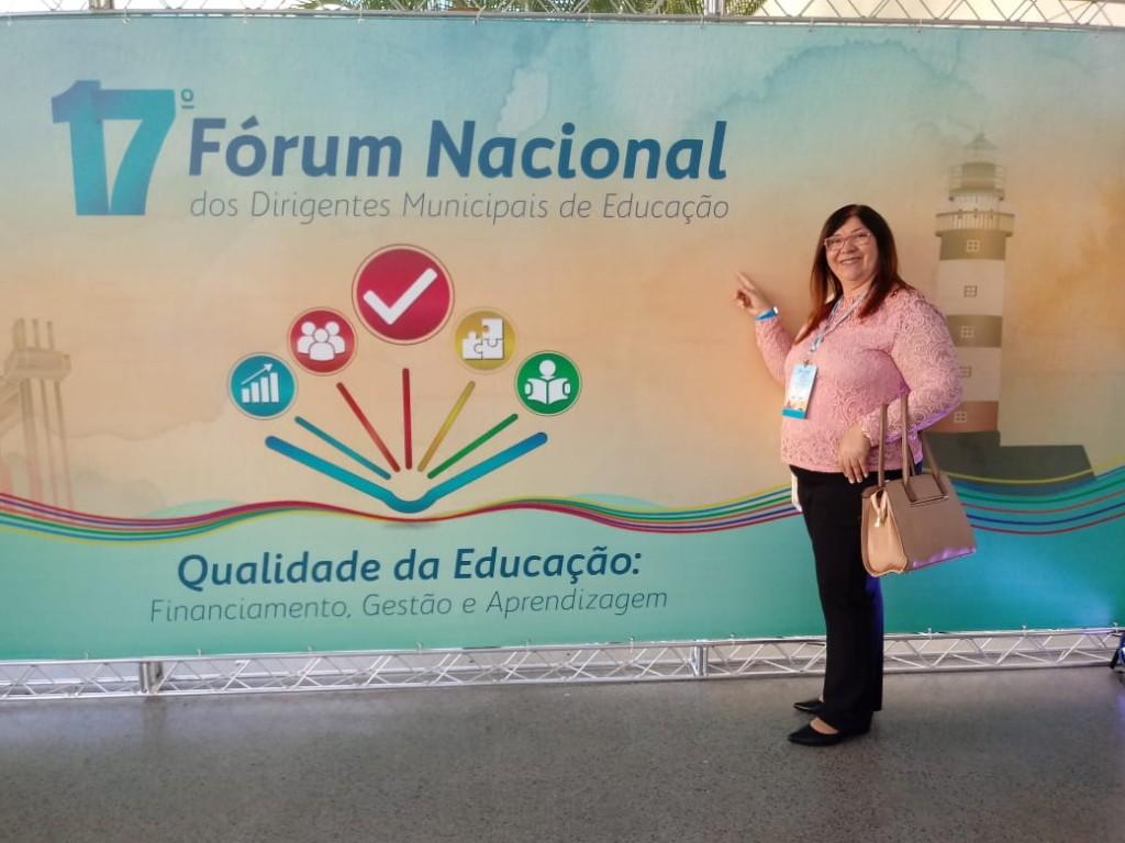 Secretária de Educação, Cultura e Desporto participa do 17º Fórum Nacional da Undime, na Bahia