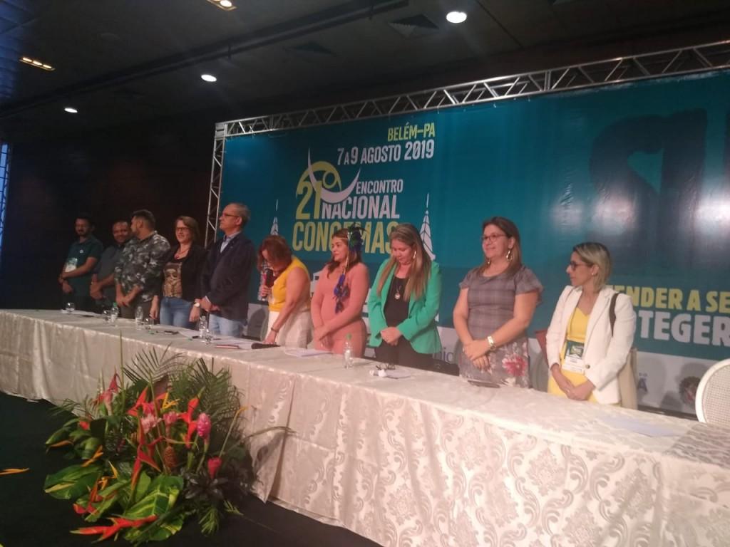 Secretária de Assistência Social participou do 21º Encontro Nacional do CONGEMAS, em Belém/PA