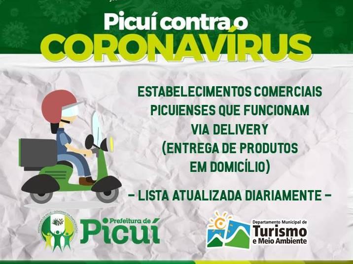 Lista dos Estabelecimentos Picuienses com Entrega Delivery