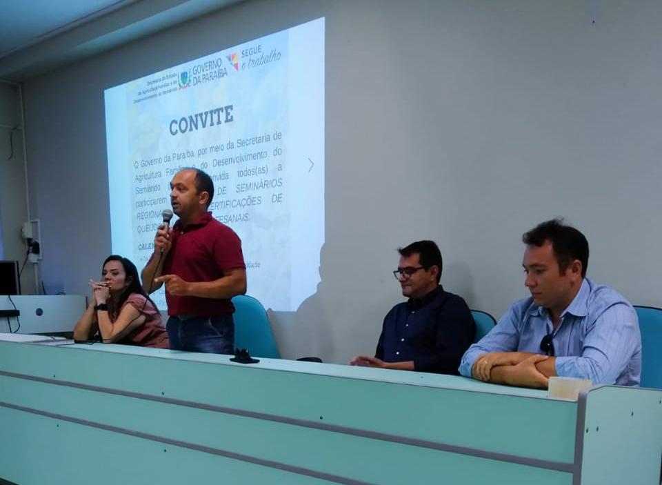 Seminário Regional sobre Certificação de Queijos e Manteigas Artesanais no Curimataú é realizado em Picuí