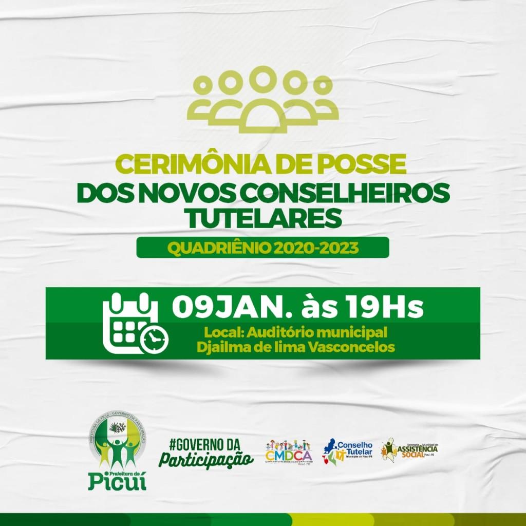CMDCA Convida os Picuienses para Prestigiarem a Cerimônia de Posse dos Novos Conselheiros Tutelares de Picuí
