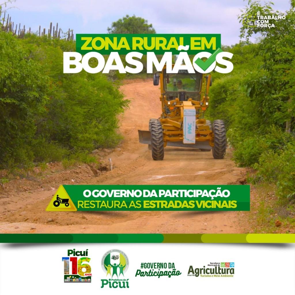 Prefeitura de Picuí Realiza Trabalho Intensivo de Recuperação das Estradas