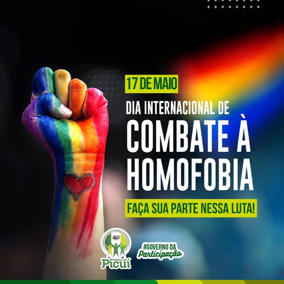 Prefeitura de Picuí Realiza Campanha em Alusão ao Dia Internacional de Combate à Homofobia