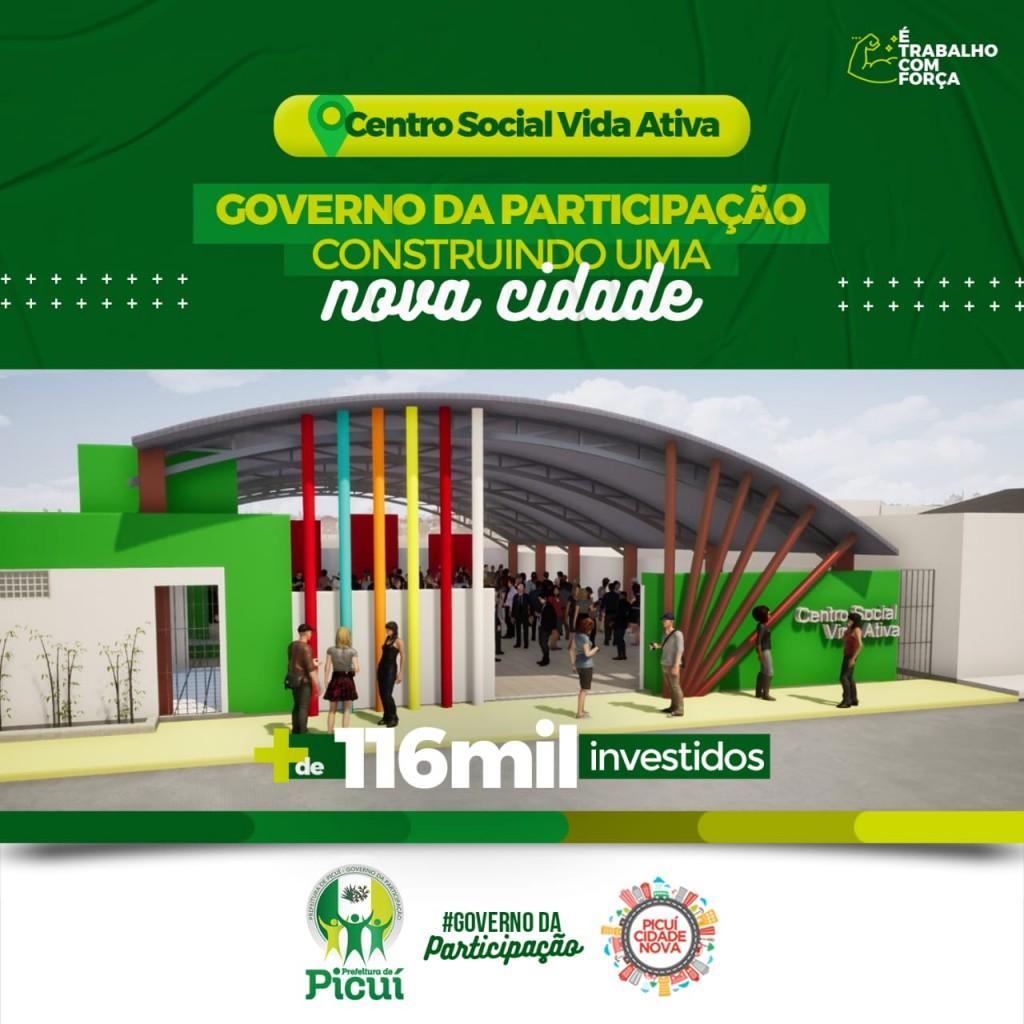 Governo da Participação dá Continuidade à Construção do Centro Social Vida Ativa