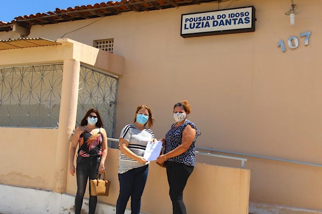Prefeitura de Picuí realiza entrega de material de limpeza à Pousada dos Idosos Luzia Dantas