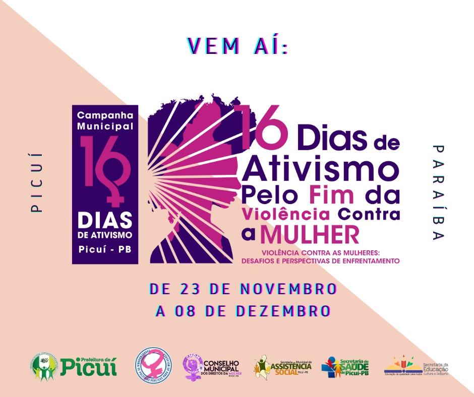 Vem aí a Campanha Municipal 16 dias de Ativismo pelo Fim da Violência Contra a Mulher