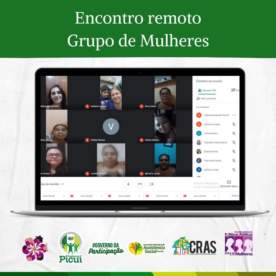 Encontro Remoto é Realizado com o Grupo de Mulheres do CRAS