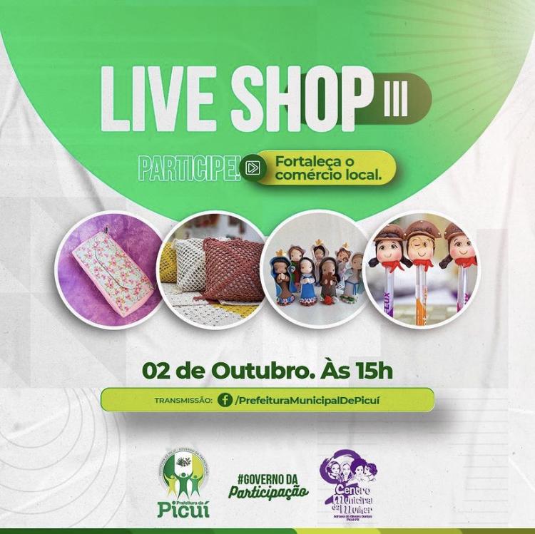 Centro Municipal da Mulher Realiza Live Shop Promovendo a Valorização do Trabalho das Artesãs Picuienses