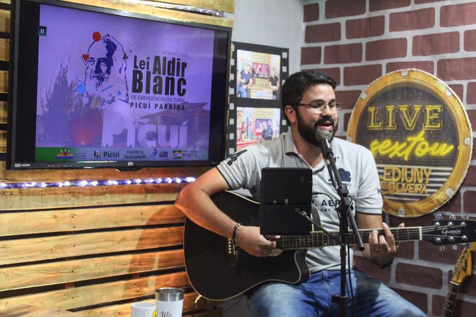 Prêmio Música Show Online: Departamento de Cultura Realiza Live MPB com Artista Contemplado com a Lei Aldir Blanc