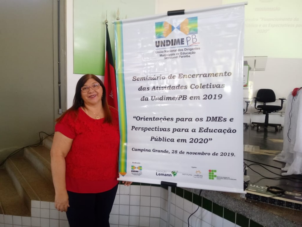 Secretária de Educação participa de seminário da UNDIME/PB em Campina Grande