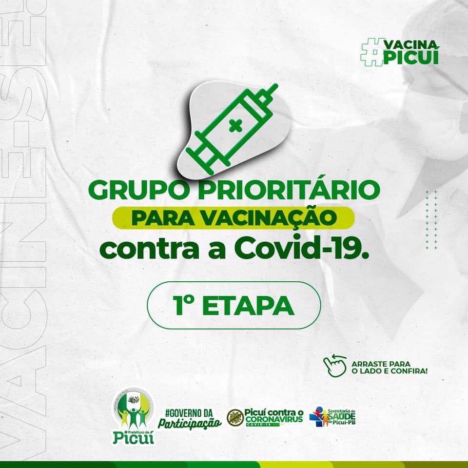 Novos Grupos Prioritários serão Contemplados com a Campanha de Vacinação contra a COVID-19